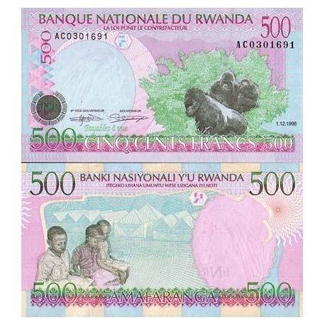 Rwanda - Pk N° 26 - Billet de 500 Francs
