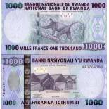 Banknote collection Rwanda Pick number 31 - 1000 FRANC