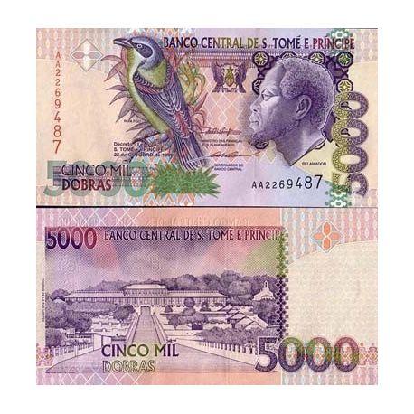 Billets de collection Billet de collection Saint Thomas & Prince Pk N° 65 - 5000 Dobras Billets de Saint Thomas et Prince 4,00 €