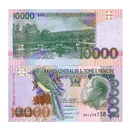 Billets banque Saint Thomas & Prince Pk N° 66 - 10000 Dobras