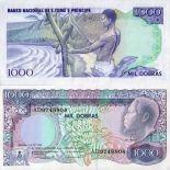 Banconote San Tommaso - Prince Pick numero 62 - 1000 Dobras