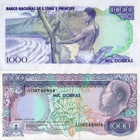 Billets de collection Billets collection Saint Thomas & Prince Pk N° 62 - 1000 Dobras Billets de Saint Thomas et Prince 19,00 €