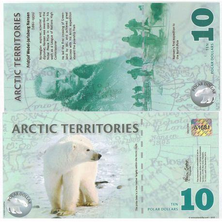 Billet de banque Arctique - Pk N° 99999 - Billet de 10 Dollars polaires