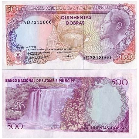 Billet de banque Saint Thomas & Prince Pk N° 61 - 500 Dobras