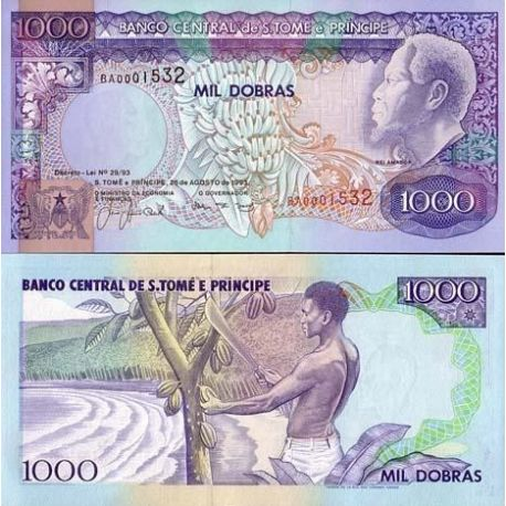 Saint Thomas & Prince - Pk N° 64 - Billet de 1000 Dobras