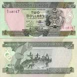 Beautiful banknote Solomon Pick number 18 - 2 Dollar