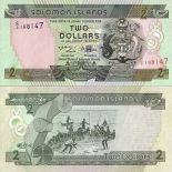 Schone Banknote Solomon Pick Nummer 18 - 2 Dollar