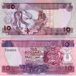 Banconote Salomone Pick numero 15 - 10 Dollar