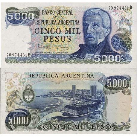 Argentinien - Pk Nr. 305-5000 Pesos banknote