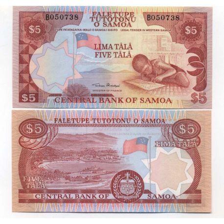 Samoa - Pk N° 26 - Billet de 5 Tala