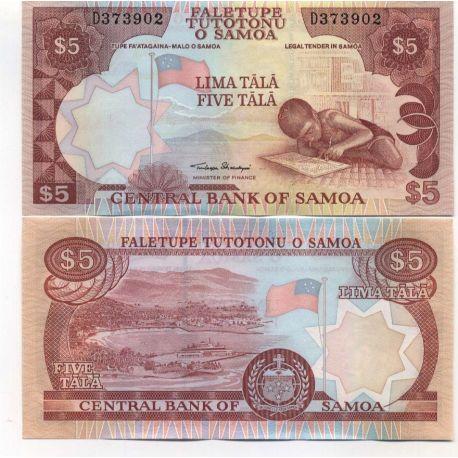 Samoa - Pk N° 33 - Billet de 5 TALA