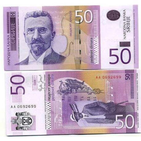 Billet de banque Serbie Pk N° 40 - 50 Dinara