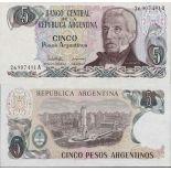 Colección de billetes Argentina Pick número 312 - 5 Peso 1983