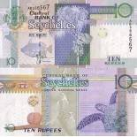 Collection of Banknote Seychelles Pick number 36 - 10 Roupie