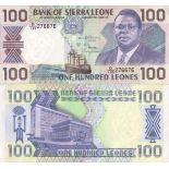 Colección de billetes Sierra Leona Pick número 18 - 100 Leone