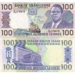 Collection of Banknote Sierra Leone Pick number 18 - 100 Leone