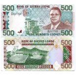 Banconote Sierra Leone Pick numero 19 - 500 Leone