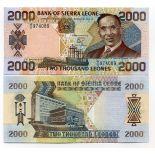 Bello banconote Sierra Leone Pick numero 25 - 2000 Leone
