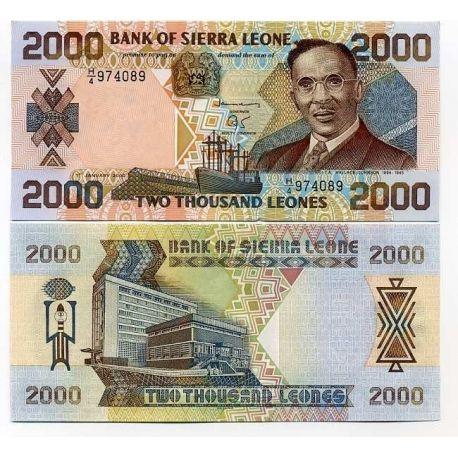 Billets de collection Billets de banque Sierra Leone Pk N° 25 - 2000 Leones Billets de Sierra Leone 12,00 €