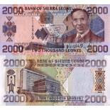 Bello banconote Sierra Leone Pick numero 27 - 2000 Leone