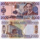Billets collection Sierra Leone Pk N° 27 - 2000 Leones