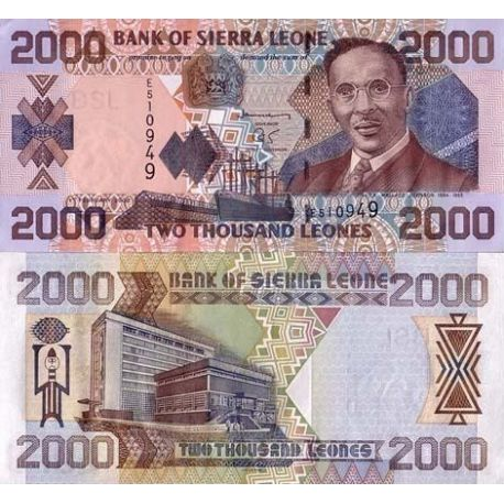 Billets de collection Billets collection Sierra Leone Pk N° 27 - 2000 Leones Billets de Sierra Leone 19,00 €