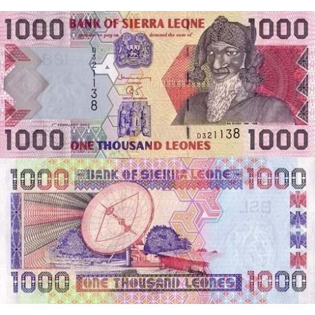 Billets de collection Billet de banque Sierra Leone Pk N° 24 - 1000 Leones Billets de Sierra Leone 8,00 €