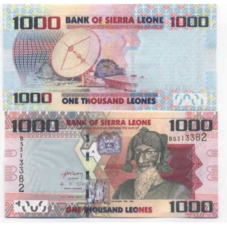 Billets de collection Billet de collection Sierra Leone Pk N° 30 - 1000 Leones Billets de Sierra Leone 4,00 €