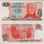 Bello banconote Argentina Pick numero 311 - 1 Peso 1983