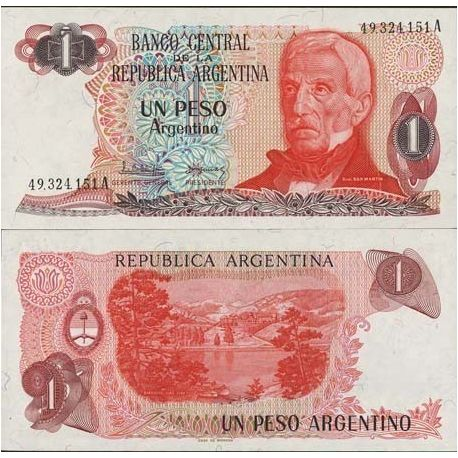 Billets de collection Billet de collection Argentine Pk N° 311 - 1 Peso Billets d'Argentine 2,00 €
