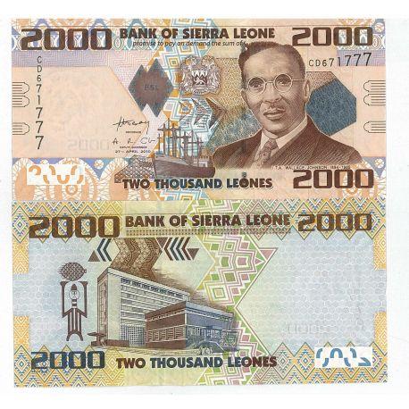 Billets de collection Billets de banque Sierra Leone Pk N° 31 - 2000 Leones Billets de Sierra Leone 5,00 €