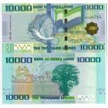 Schone Banknote Sierra Leone Pick Nummer 33 - 10000 Leone