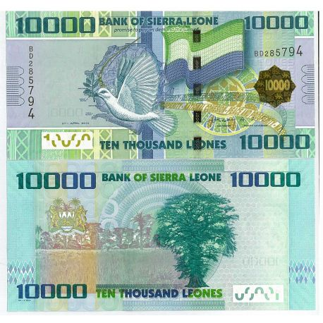 Billets de collection Billets collection Sierra Leone Pk N° 33 - 10 000 Leones Billets de Sierra Leone 15,00 €