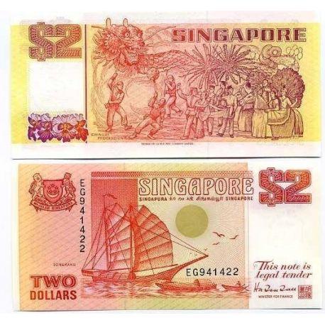 Singapour - Pk N° 27 - Billet de 2 Dollars