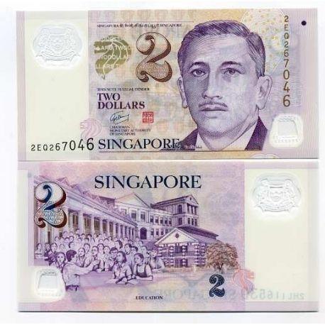 Billet de banque SINGAPOUR Pk N° 54 - 2 DOLLAR