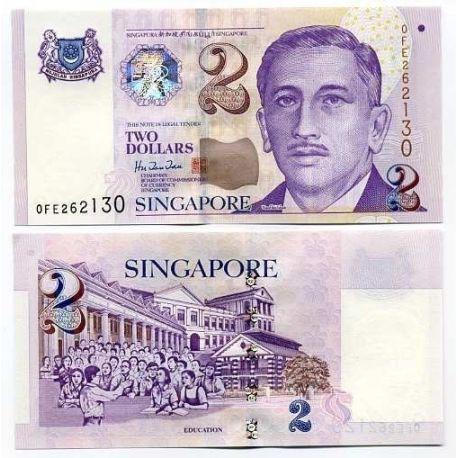 Billet de collection Singapour Pk N° 38 - 2 Dollar