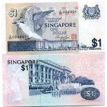Colección Billetes Singapur Pick número 9 - 1 Dollar