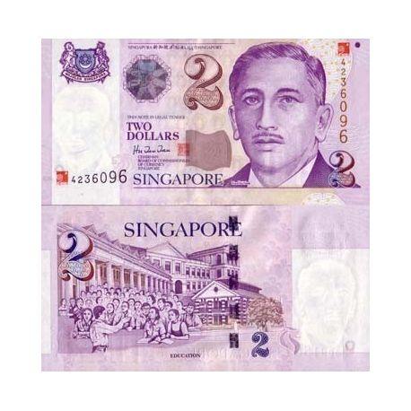 Singapour - Pk N° 45 - Billet de 2 Dollar
