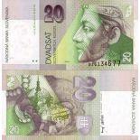 Banconote banca Slovacchia Pk N° 20 - 20 Korun