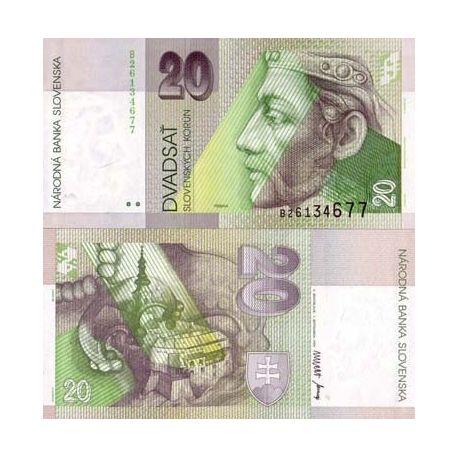 Billets banque Slovaquie Pk N° 20 - 20 Korun