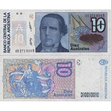 Billets de collection Billet de banque Argentine Pk N° 325 - 10 Australes Billets d'Argentine 2,00 €