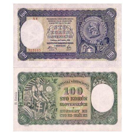 Slovaquie - Pk N° 10 - Billet de 100 Korun