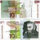 Banconote banca Slovenia Pk N° 11 - 10 Tollarjev