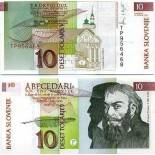 Billetes banco Eslovenia PK N° 11 - 10 Tollarjev