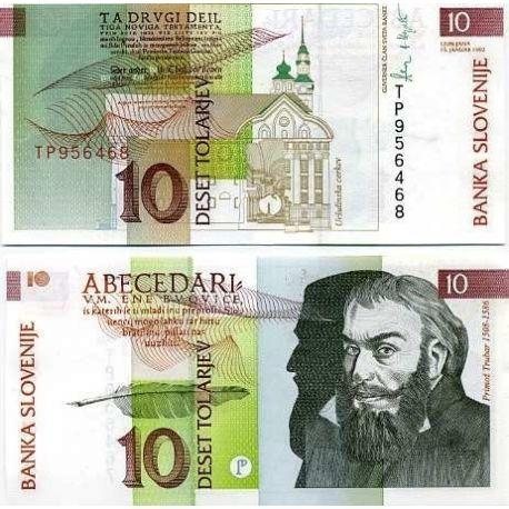 Slovenie - Pk N° 11 - Billet de 10 Tollarjev