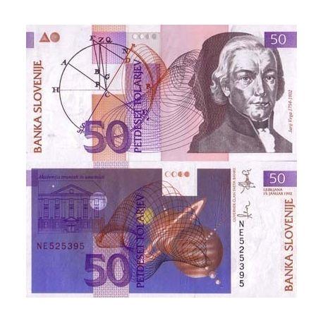 Slovenie - Pk N° 13 - Billet de 50 Tala