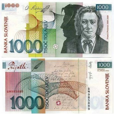 Slovenie - Pk N° 29 - Billet de 1000 Tollarjev
