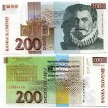Banknote Slowenien Pk Nr. 15 - 200 Tollarjev