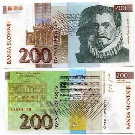 Slovenie - Pk N° 15 - Billet de 200 Tollarjev