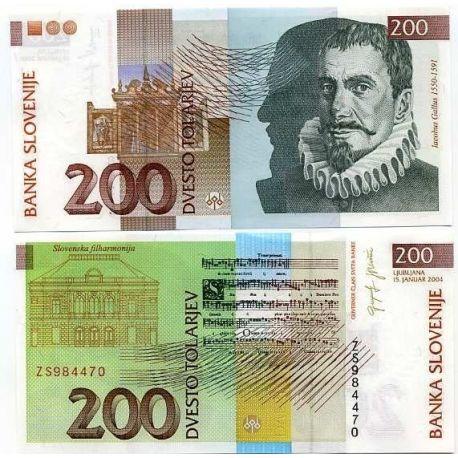 Slowenien - Pk Nr. 15 - 200 Tollarjev ticket